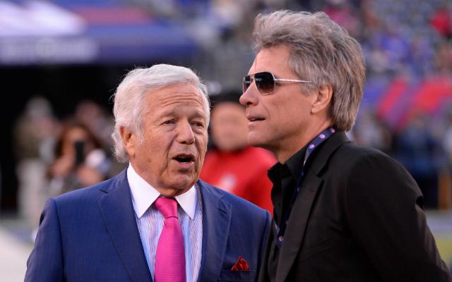 Will Jon Bon Jovi (r.) join Robert Kraft in the ranks of NFL owners? (USATSI)