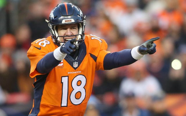 Peyton Manning's contract gives him a unique chance at cashing in this postseason. (USATSI)
