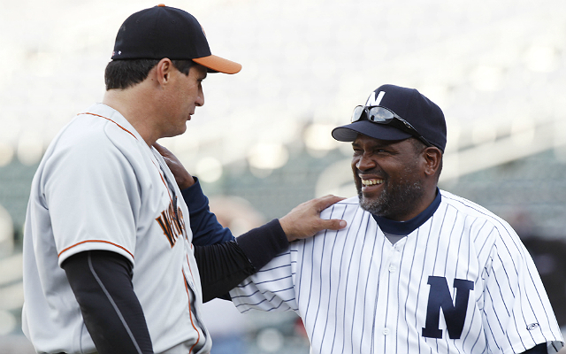Tim Raines (r.) was one of the best leadoff hitters in history. (USATSI)