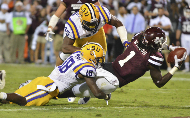Tre'Davious White has impressed scouts with his physicality and tackling. (USATSI)