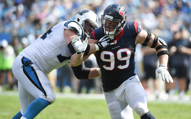J.J. Watt didn't have his best game against the Panthers. (USATSI)