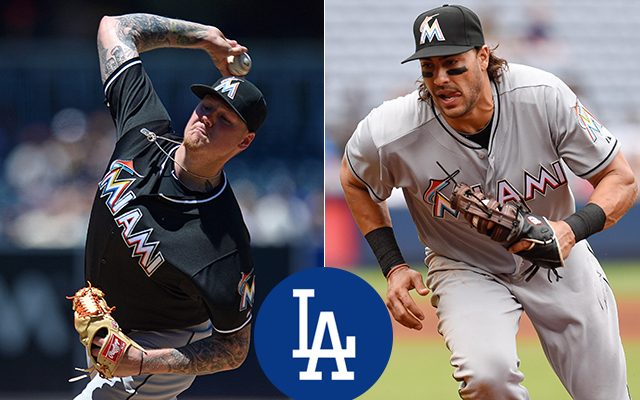 Marlins trade Mat Latos, Mike Morse to Dodgers for prospects