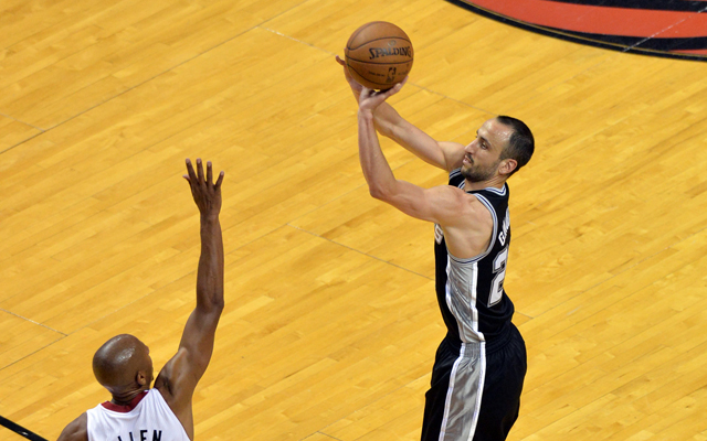 Ginobili and his team couldn't out shoot the Heat's wings. (USATSI)