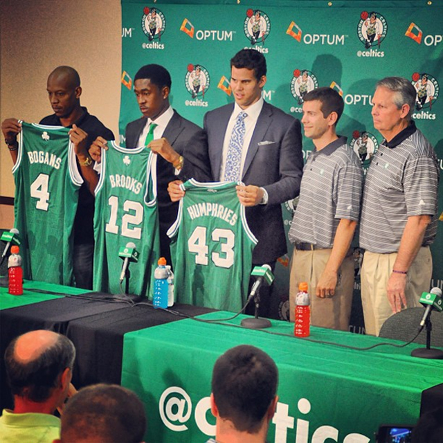 ... Kris Humphries and Keith Bogans being introduced as Boston Celtics and  looking thoroughly depressed circulated the Internet. If you haven t seen  it yet 4351c615d