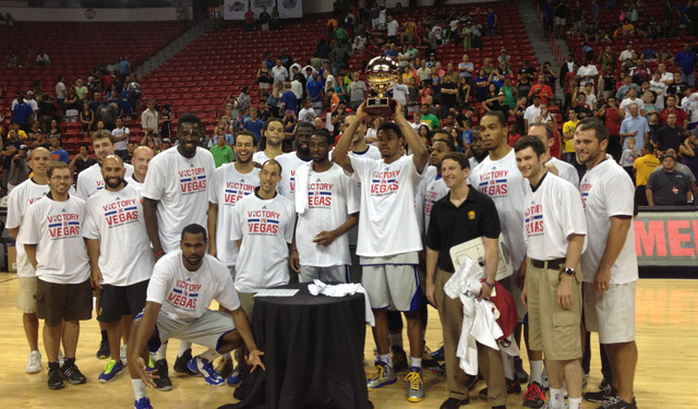 The Warriors won the first Las Vegas Summer League tournament. (Zach Harper)