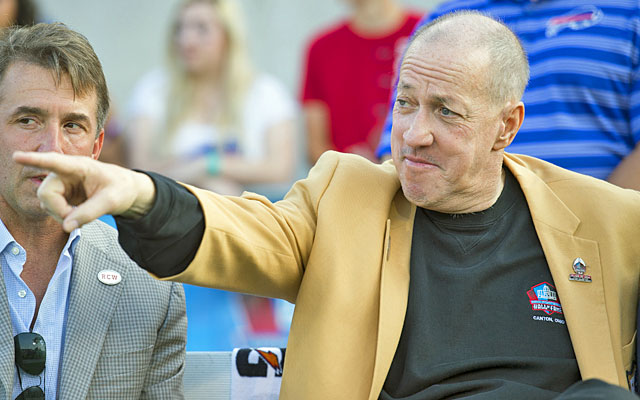 Hall of Fame quarterback Jim Kelly was diagnosed with upper jaw cancer last June. (Getty)