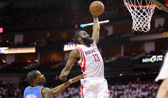 Dunks like this one by Harden will be measured in a whole new way now for some teams.(USATSI)
