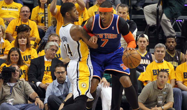 Carmelo is ready to take on the added competition in the East. (USATSI)