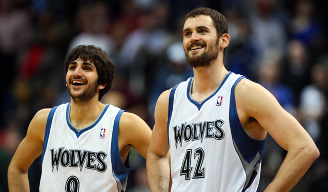Ricky Rubio and Kevin Love need health and help. Will they have both in Minnesota? (USATSI)