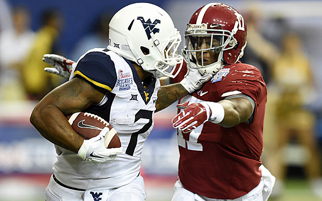 Rushel Shell and the Mountaineers were in position to pull off the upset vs. No. 2 Alabama.  (USATSI)