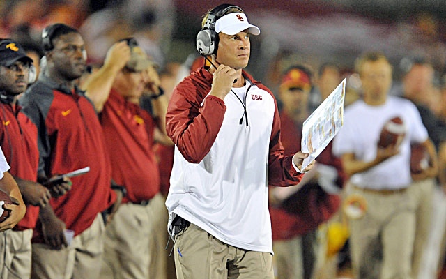 Lane Kiffin and USC's offense appear to be in disarray. (USATSI)