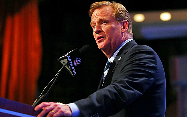 Roger Goodell announced the NFL's new personal conduct policy on Wednesday. (Getty Images)