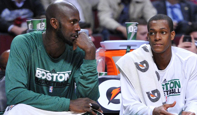 Garnett taught Rondo about leadership, which will be essential in Boston next season. (USATSI)