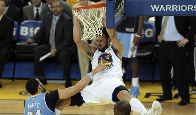 Are we going to see a lot more of Bogut dunking on opponents? (USATSI)