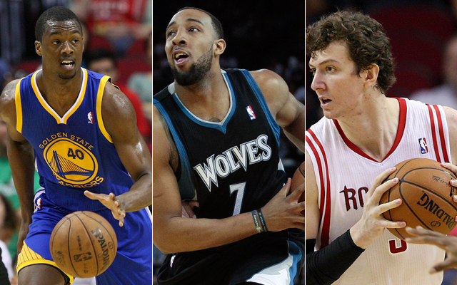 Barnes, Williams, and Asik will all be battling for time on the court this preseason. (USATSI)