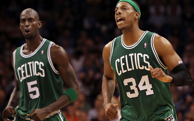 It took Paul Pierce convincing Kevin Garnett for KG to waive his no-trade clause.  (USATSI)