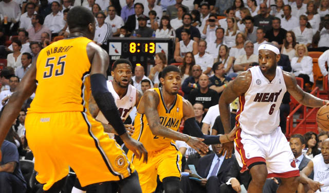 The foundation of Roy Hibbert and Paul George got a little help this summer.(USATSI)