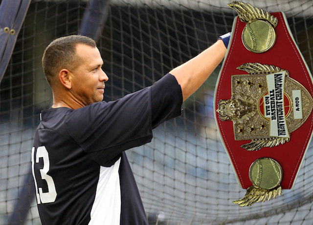 Thankfully, American hero Alex Rodriguez still has the belt. (USATSI)