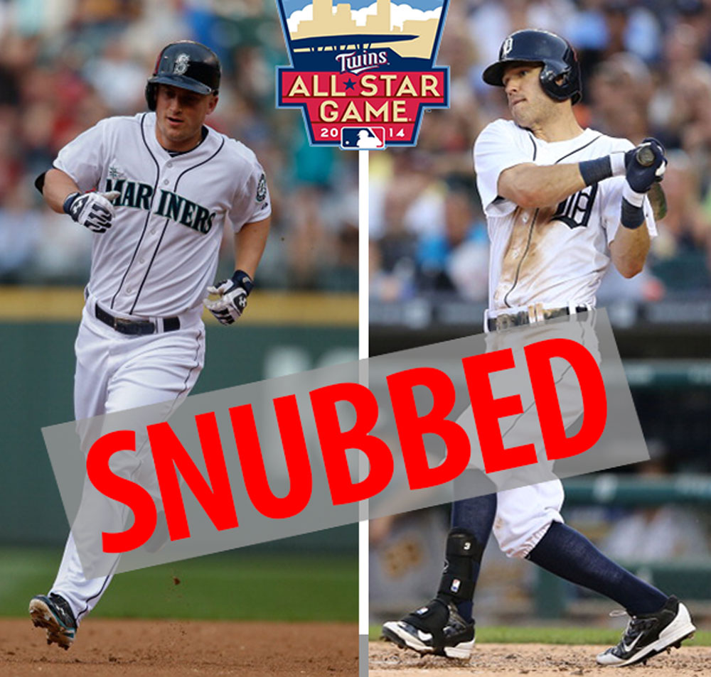 Kyle Seager and Ian Kinsler were left off the All-Star team.