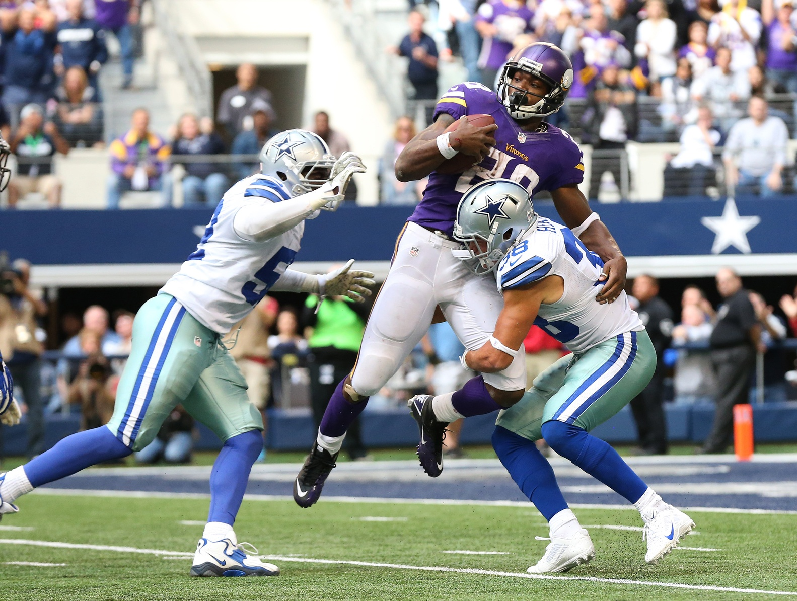 Adrian Peterson somehow scored a touchdown on this play.