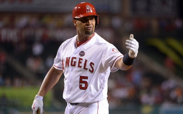 Albert Pujols is probably not upset that Jack Clark is now out of a job. (USATSI)