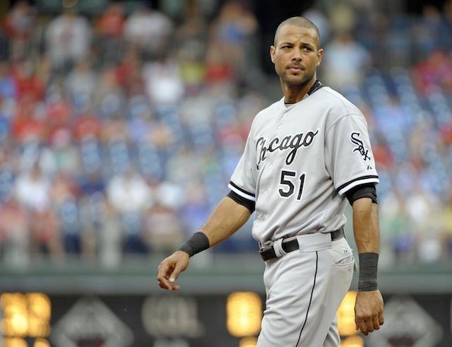 Alex Rios of the White Sox found himself in Robin Ventura's doghouse on Friday night. (USATSI)