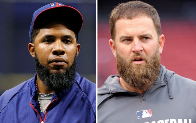 Two very good players, two terrible beards.