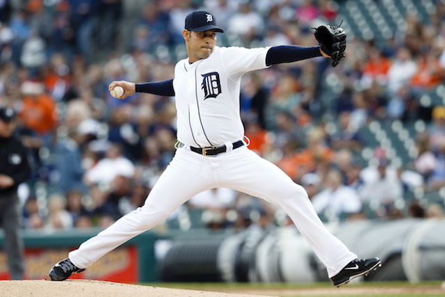Anibal Sanchez of the Tigers will be on the shelf for a while thanks to a recent pectoral injury. (USATSI)