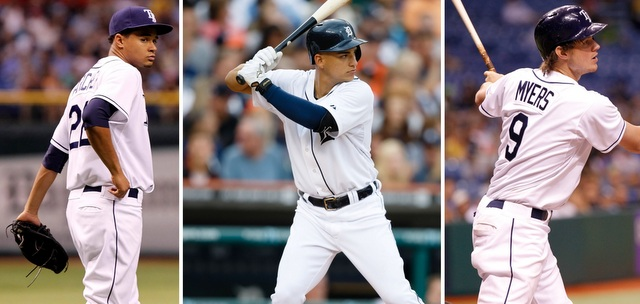 From left: Chris Archer, Jose Iglesias and Wil Myers are the favorites for the AL Rookie of the Year.