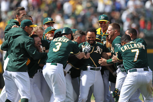 Settle down, A's. That lease isn't done yet. (USATSI)