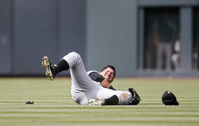 Avisail Garcia is back well ahead of schedule from the major shoulder injury pictured above. (USATSI)