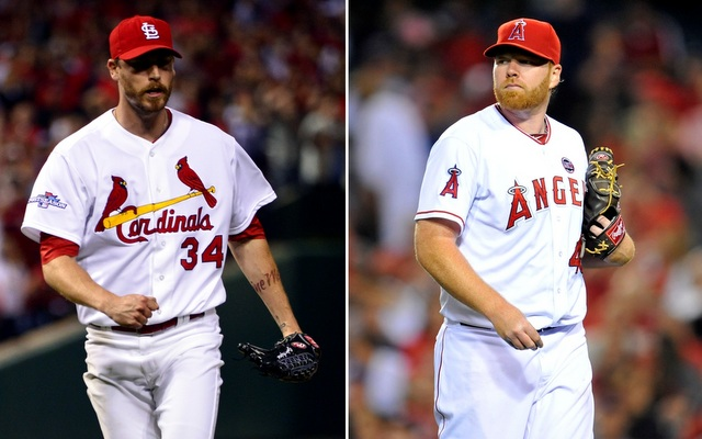John Axford (left) and Tommy Hanson both became free agents on Monday.