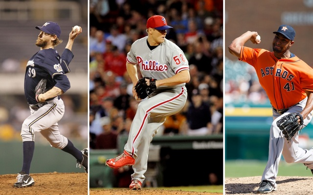 John Axford (left), Jonathan Papelbon (center) and Jose Veras could be closer options for the Tigers. (USATSI)