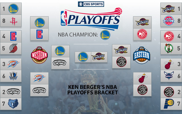 2016 Nba Playoff Brackets Warriors Unanimous Champs Among Experts