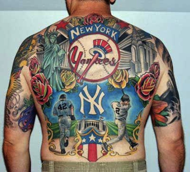 photo your panoramic yankees tattoo of the day. Black Bedroom Furniture Sets. Home Design Ideas
