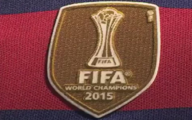 separation shoes 52fce d3798 Barcelona shows off new world champions badge for their ...