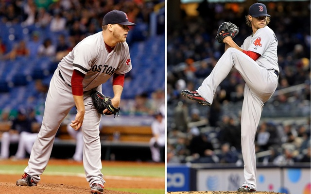 The Red Sox got bad news regarding Andrew Bailey (left) and Clay Buchholz on Sunday.