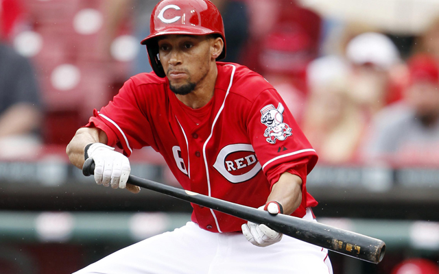Pinch-runner extraordinaire Billy Hamilton will be on the Reds' bench tonight.