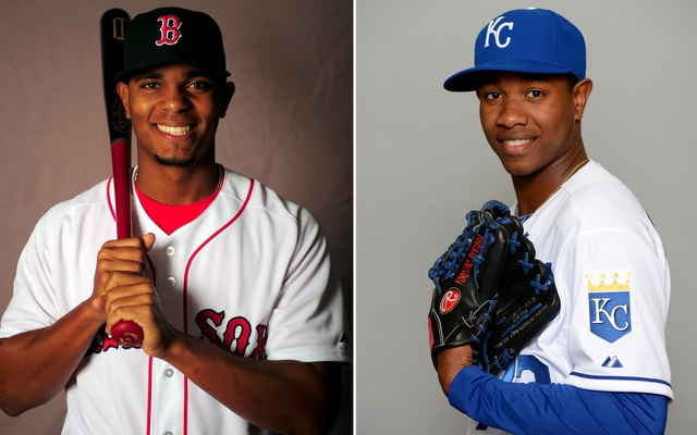 Bogaerts (left) and Ventura highlight a strong crop of AL impact prospects.
