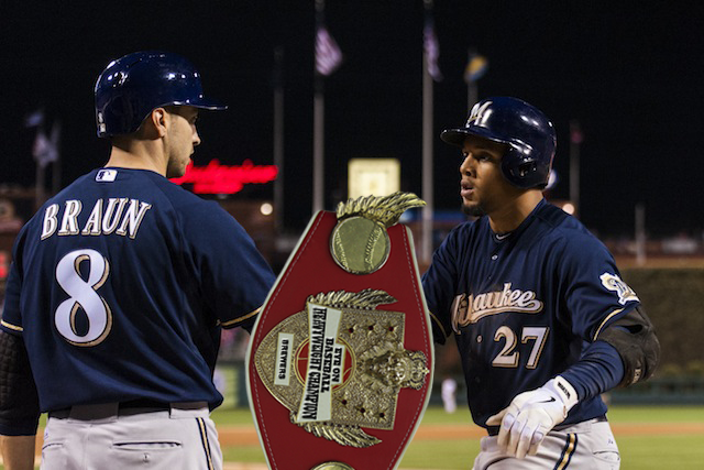 Ryan Braun, Carlos Gomez and the Brewers still own the Eye On Baseball Heavyweight Championship. (USATSI)