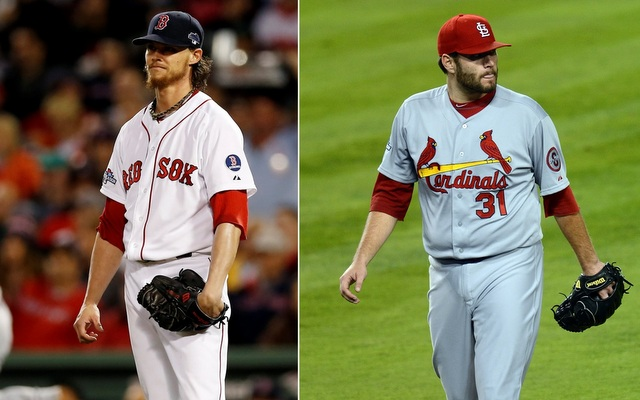 Clay Buchholz (left) and Lance Lynn will be on the mound in Game 4 on Sunday.