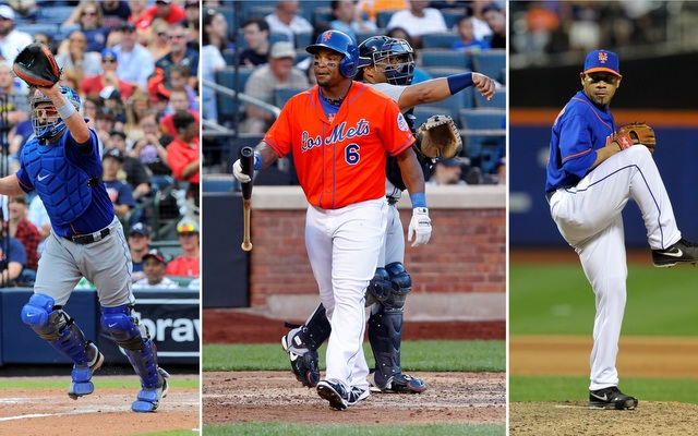 From left: John Buck, Marlon Byrd and Pedro Feliciano could all be on the move this week.
