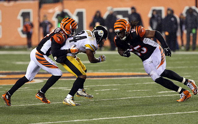 Antonio Brown suffered a concussion on this hit from Vontaze Burfict. (USATSI)