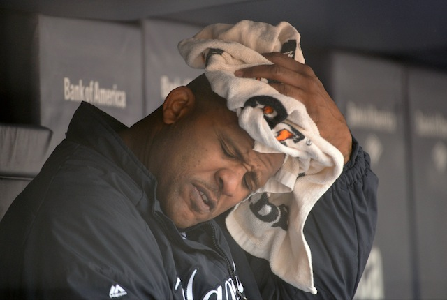 What's on CC Sabathia's mind? Possibly his degenerative right knee. (USATSI)