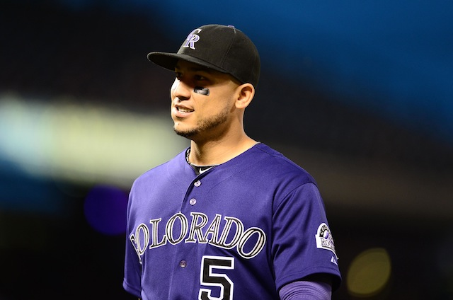 Carlos Gonzalez has no clear timetable after undergoing finger surgery. (USATSI)