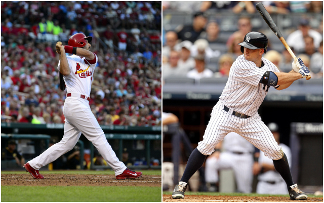 Matt Carpenter (left) and Brett Gardner are two of the best when it comes to waiting for their pitch. (USATSI)