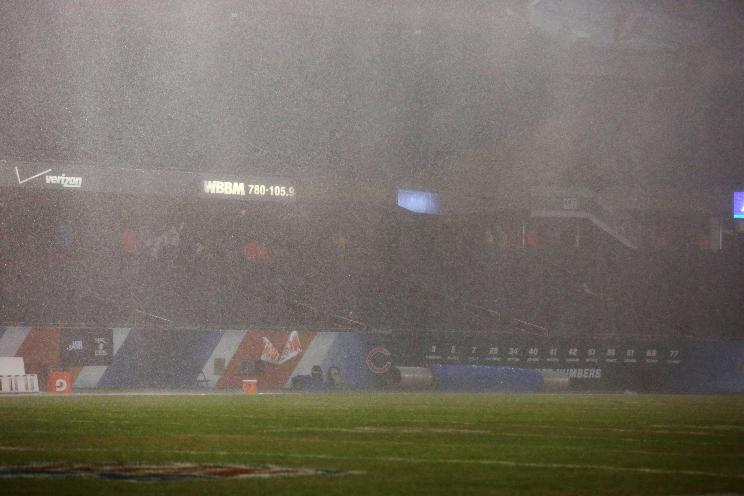 This weather isn't ideal for football.