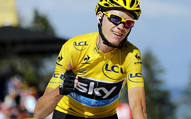 Team Sky's Christopher Froome is set to become Britain's second straight Tour de France winner. (Getty Images)