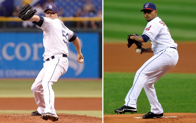 Youngsters Alex Cobb (left) and Danny Salazar will start tonight's do-or-die wild-card game.