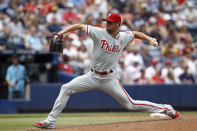 Cole Hamels helped make history against the Braves on Labor Day. (USATSI)